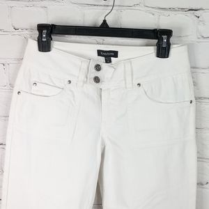 BeBe White Bell bottom Jeans